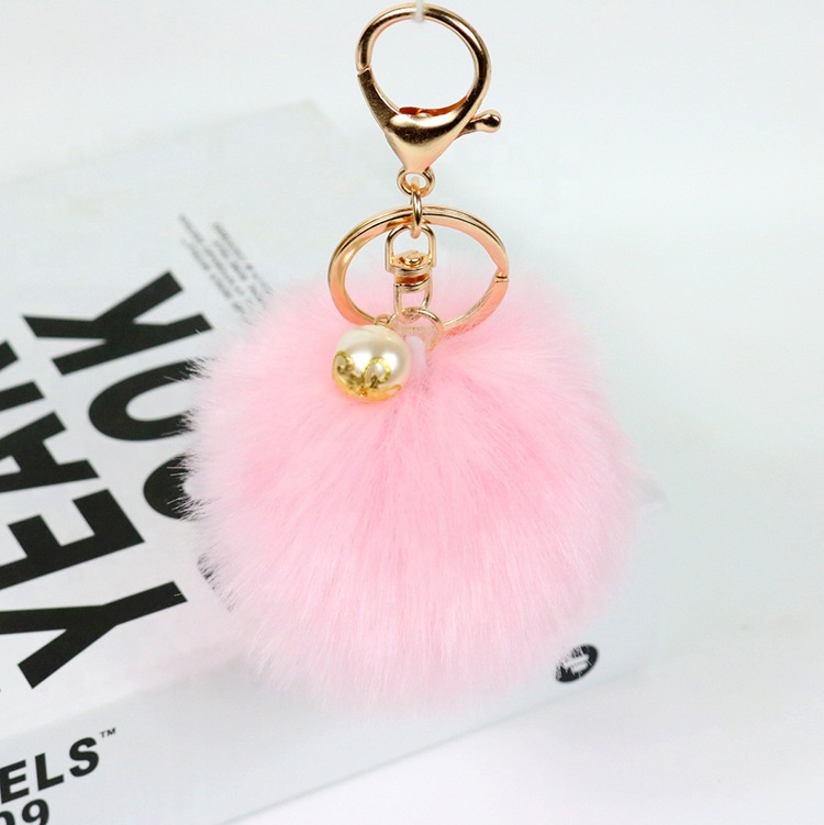 Colorful Fluffy Faux Rabbit <strong>Fur</strong> <strong>Ball</strong> Keyring Handbag Pendant Fake <strong>Fox</strong> <strong>Fur</strong> <strong>Ball</strong> PomPom <strong>Keychain</strong>