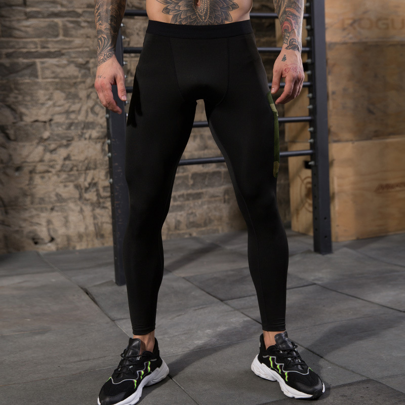 Men's Compression Pants Workout Leggings Training Running Tights Athletic Base Layer Cool Dry Pants With Pocket 4