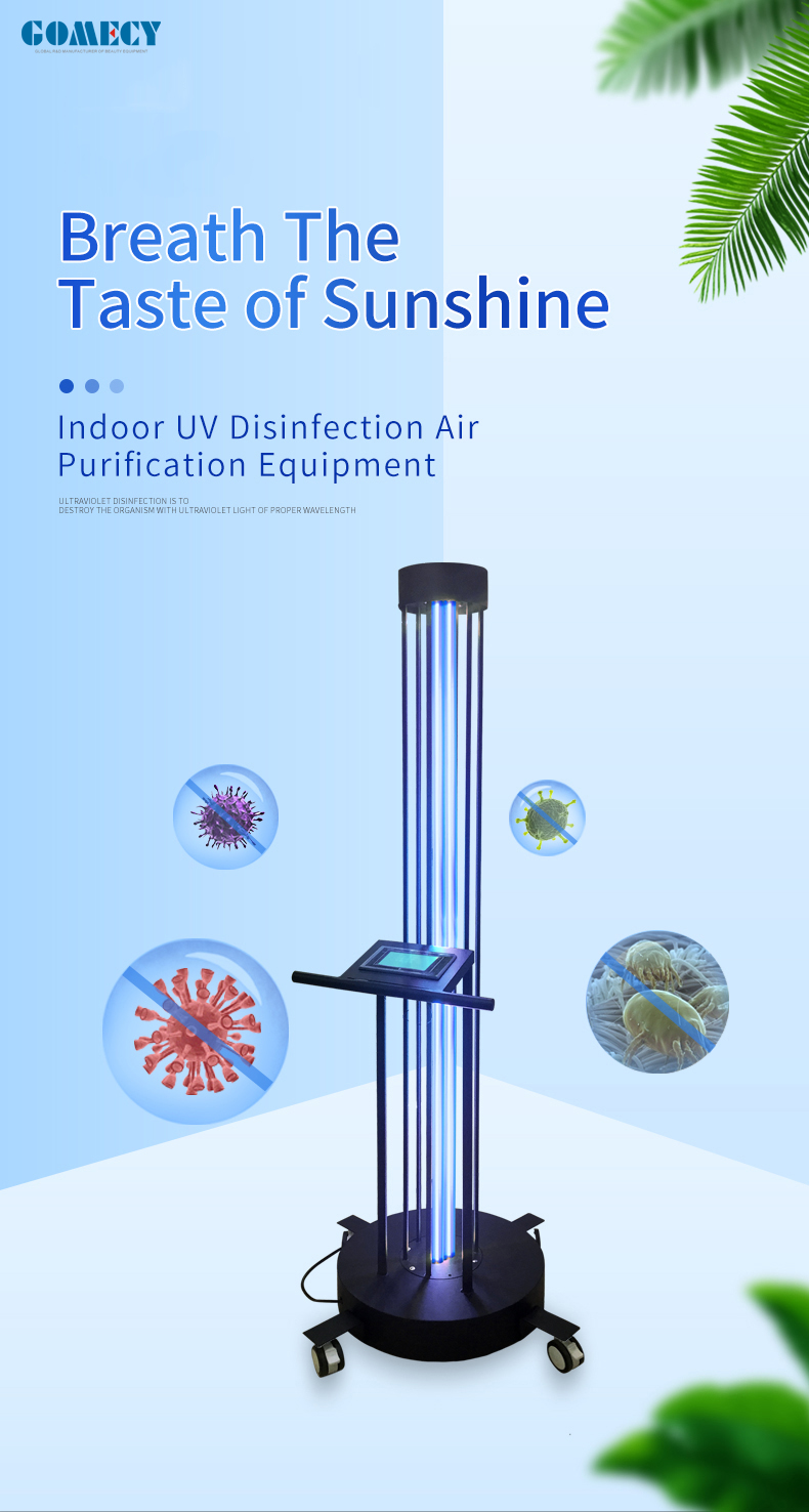 Disinfection Machine For Hoptipal operating room ICU room patient room Disinfection Equipment UV Steriliser For Air Purification.jpg