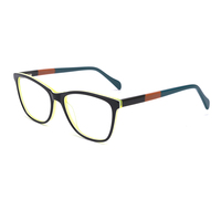 Relax high myopia new model optical acetate power glass frame