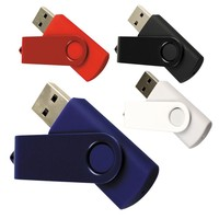 Pendrive USB2.0 2gb 4gb 8gb 16gb promotional swivel usb memory stick with custom logo printing customized twister USB 3.0 32GB