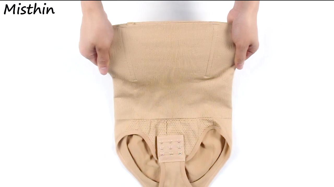 Mujeres de cintura alta de menor vientre cintura Shaper Slimming entrenador corsé Shapewear cuerpo bragas para mujeres