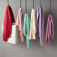 Fashion winter solid color wool acrylic scarf pashmina women