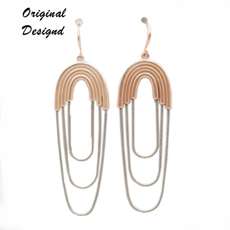 New Style Customized brass hoop 멋을 낼 긴 빈티지 plating 금 earring