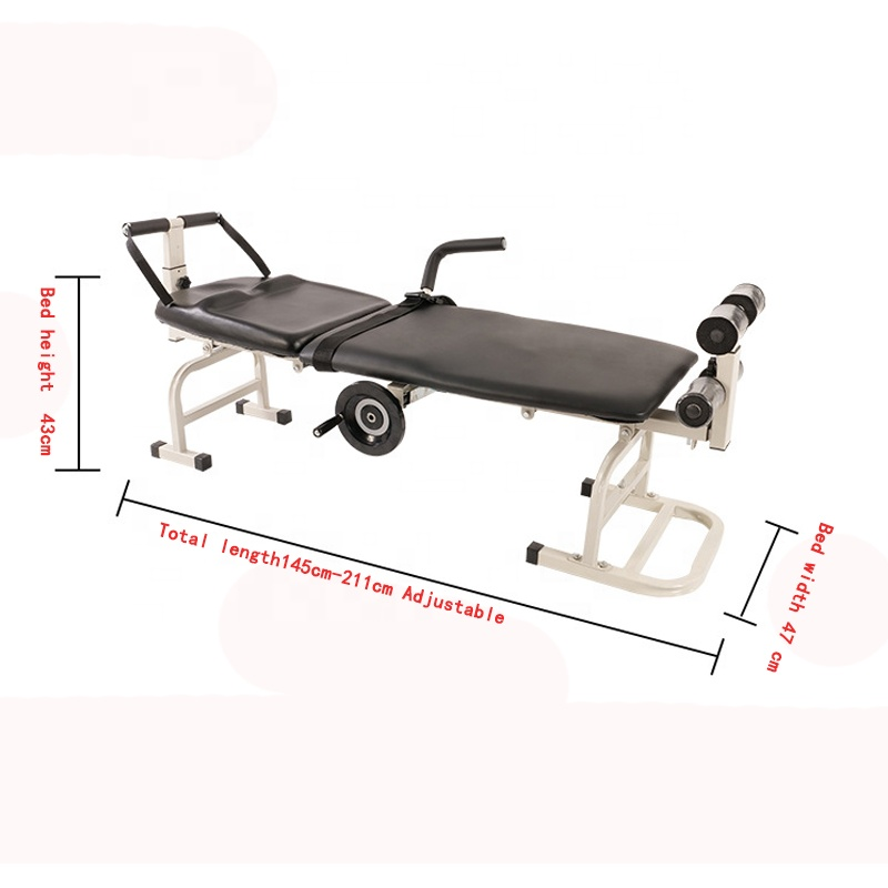 Medical foldable cervical and lumbar traction bed multifunctional portable cervical and lumbar traction stretcher