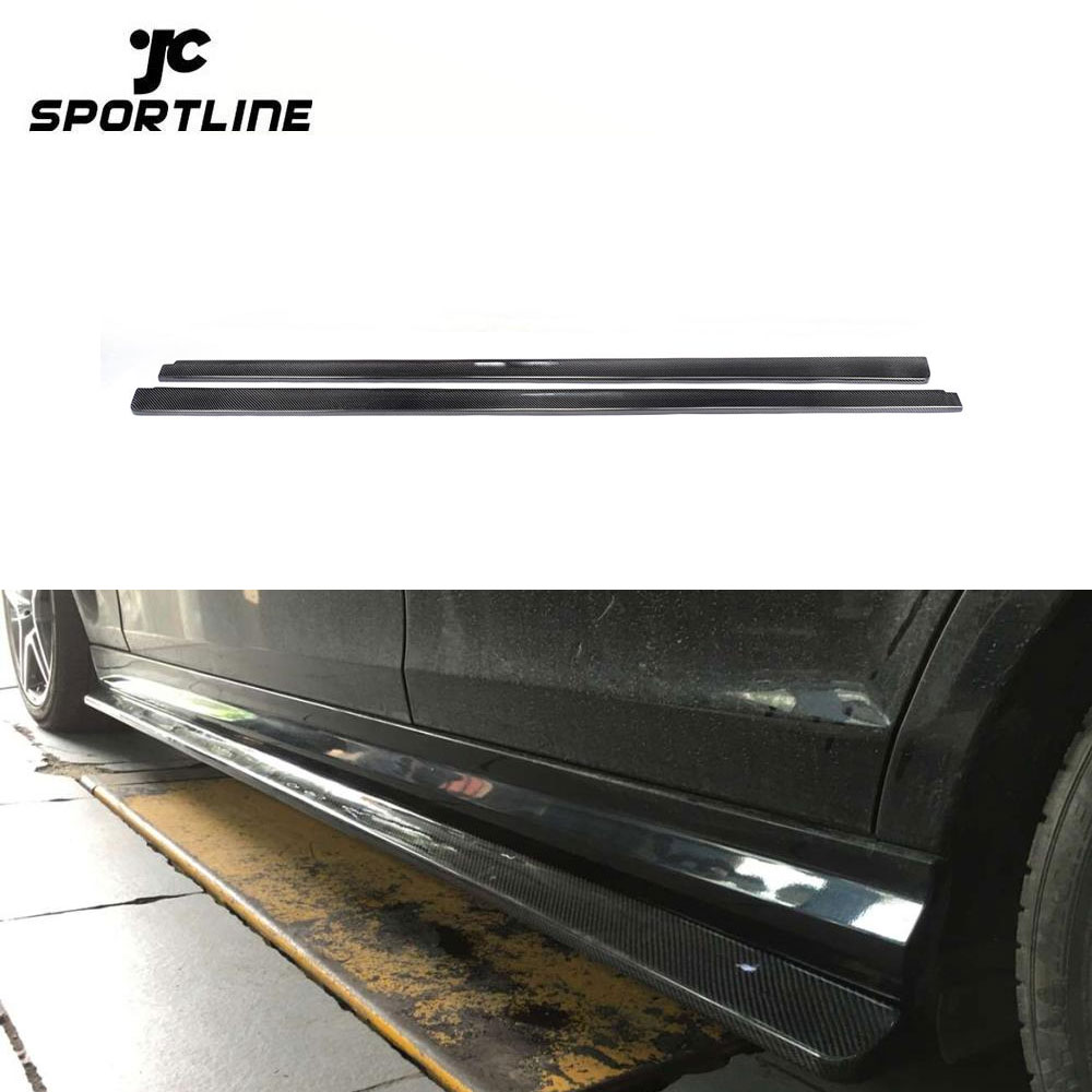 Carbon Fiber Rear Bumper Extensions for Mercedes Benz W204 C63 AMG Side Skirt