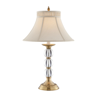 Best Seller OEM Modern Solid Brass Base with K9 Crystal Ball LED Table Lamp for Side Table