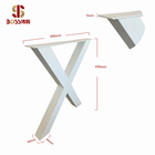 Metal Coffee Table Legs X-Frame Style X shaped farm table legs - YouTube