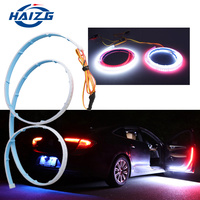 car led light soft article lamp open car door warning flash signal led strip light car door warning led drl lights