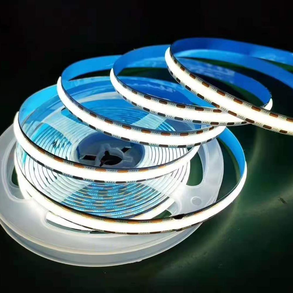 DC12/24V 384LED/M 180 degree luminous COB LED digital Flexible Strip Light with no light spot