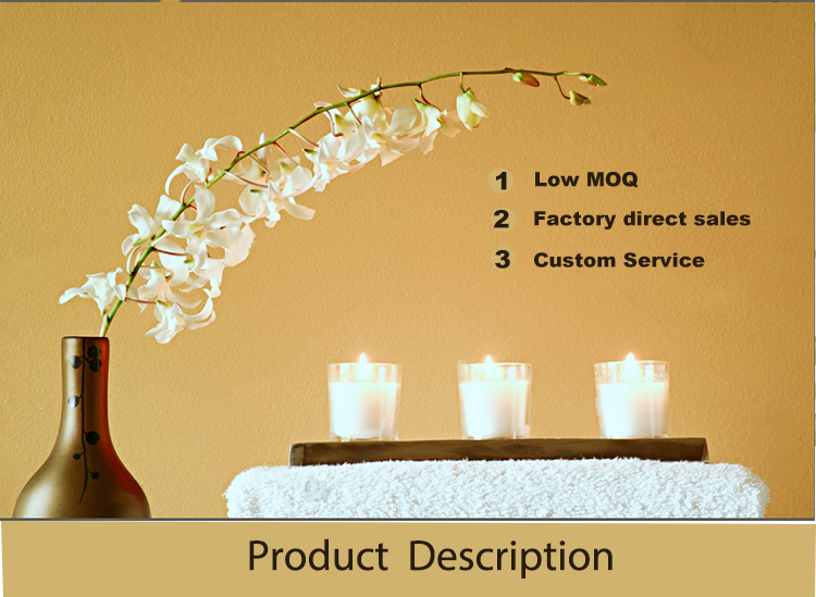 Wholesale round empty frosted glass candle jar for candle