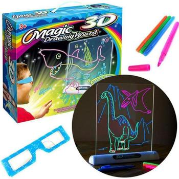 2020 New 3D LED Bright Light Magic Children Writing Drawing Board