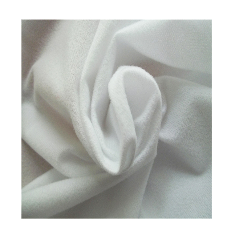 100% cotton white waterproof double side brushed flannel fabric for bed sheet