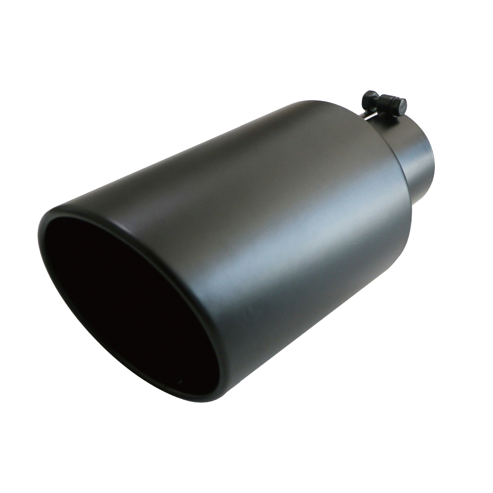 "5/"" Inlet 7/"" Outlet 18/"" Long Rolled Exhaust Tip Tailpipe Stainless Steel Bolt On"