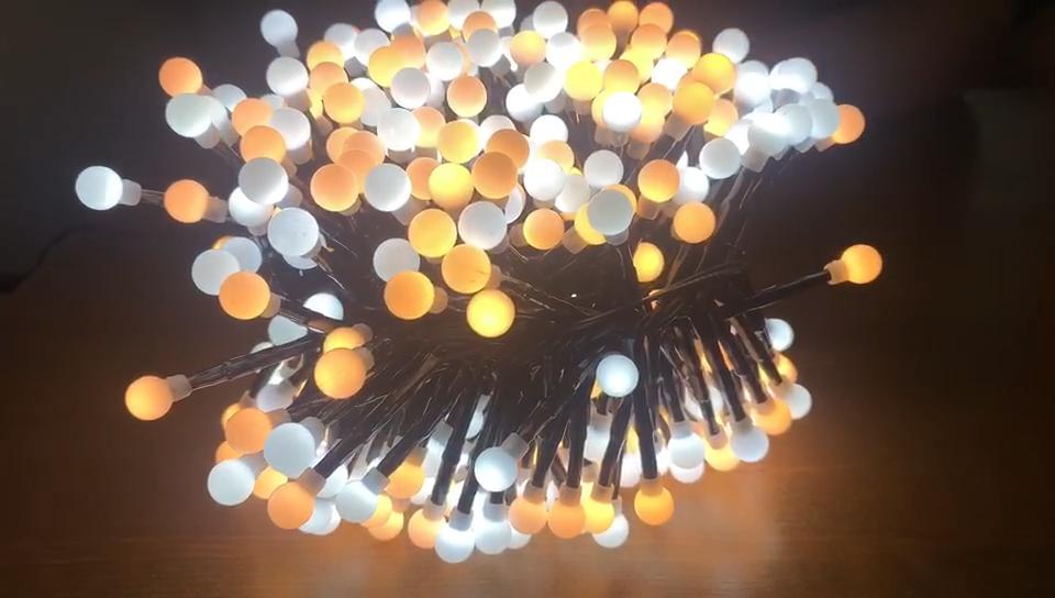 Lumières LED de noël pour maison, arbre de noël, décoration murale, salle de fête de mariage, 2018-36 3M, 400 ampoules