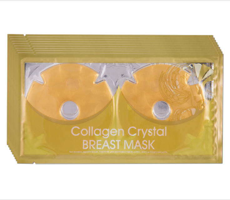 OEM private label natural skin care no logo whitening firming lifting collagen crystal breast mask