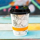 Corrugated paper disposable coffee cup and tea hot drink double wall