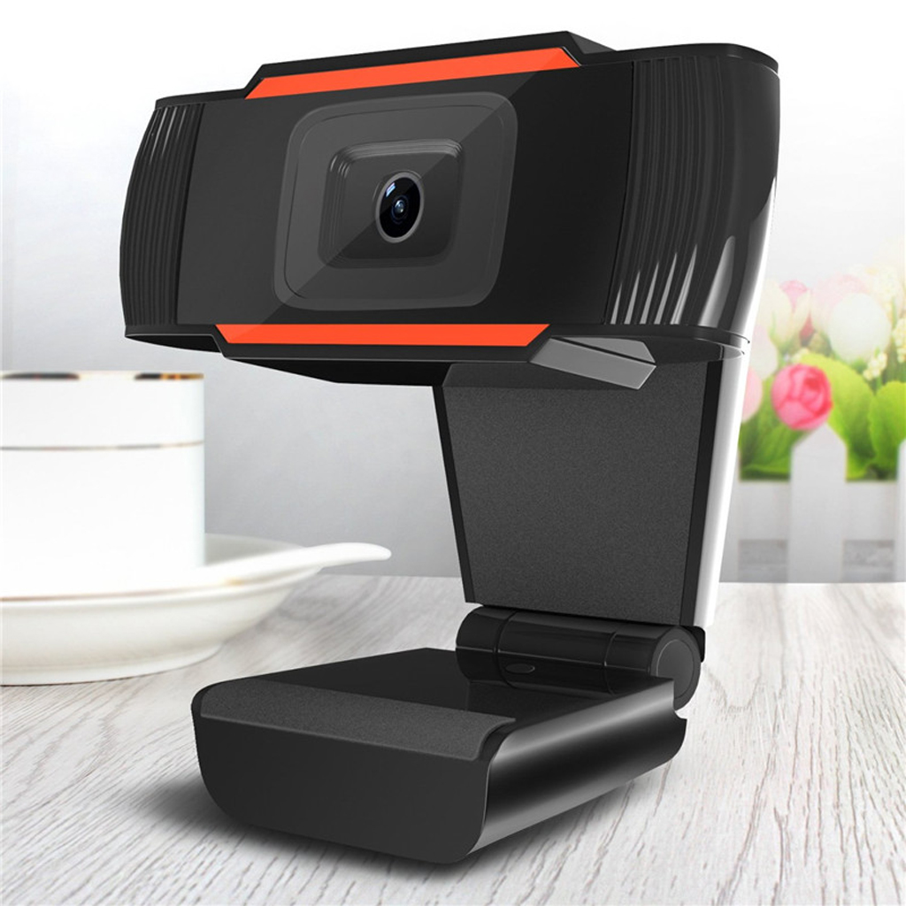 720P Rotatable HD Webcam Laptop Plug Play Mini USB Video Recording Built-in Mic 2.0Camera Video Recording Built-in Microphone