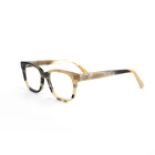 Natural Buffalo Horn Eyeglass Frame Glasses