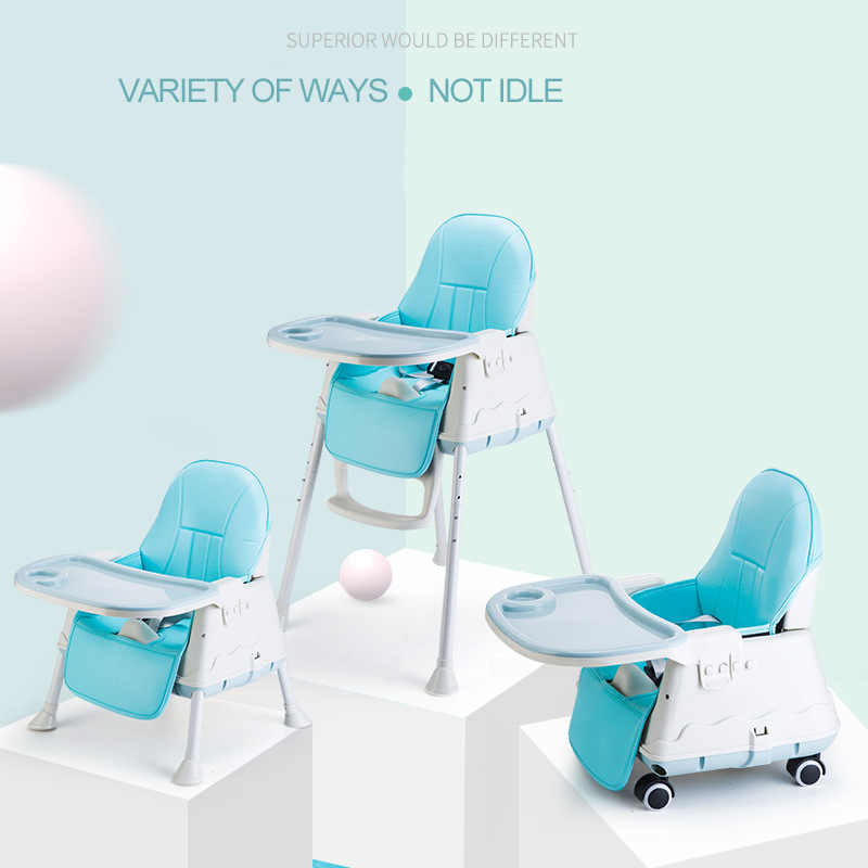 2019 New Design Simple Model Plastic Soft Safety 3で1 Dining Baby Highchair For Feeding