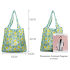 Customized RPET Polyester Reusable Foldable Shopping Bag With Tote