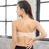 Latest strapless girls sexy yoga tube top for womens Women Plain Wholesale Sexy Crop Tops Tube Top
