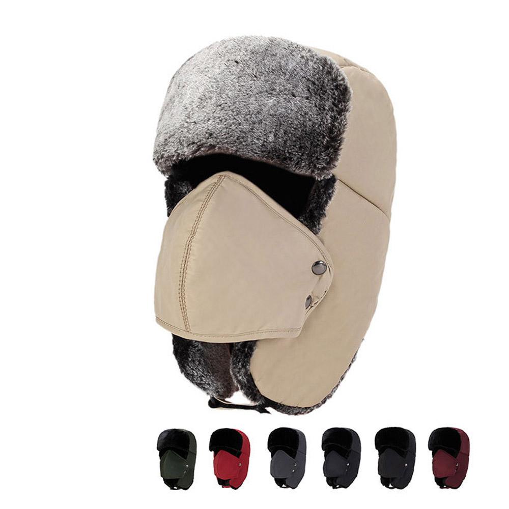 Men Winter Hat Aviator Earflap Ski Hat Cap Hunting Trooper For Ski Sports OD
