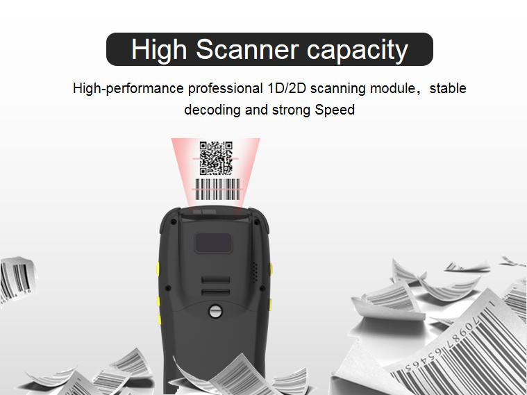 Smart mobile computer based on Android 4G NFC/HF reader camera quick charger and barcode scanner QR code scanner
