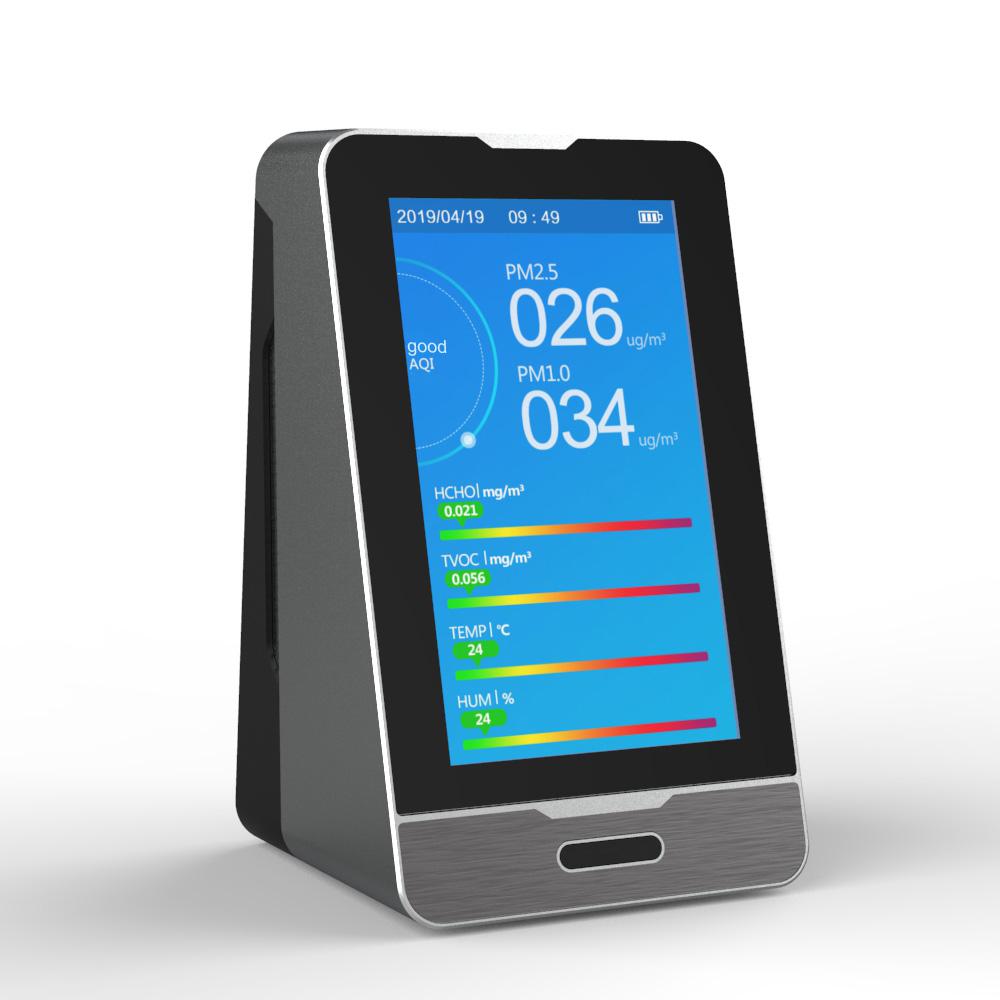 PM2.5 Air Quality Monitor Formaldehyde Detector TVOC HCHO CO2 Meter indoor Detector tester temperature humidity sensor