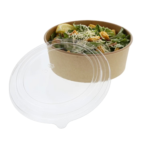 Usa e getta 32oz 42 once PLA rivestimento kraft insalata ciotola di carta con coperchio