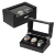 Top Exquisite and Durable  Watch Case for Men 5 Slots Wood Storage Watches Box Organizer with Glass Display Leather Pillows