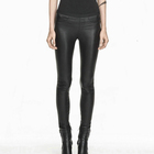 High Quality Sexy Women Elastic Waist Genuine Sheepskin Leather Pants
