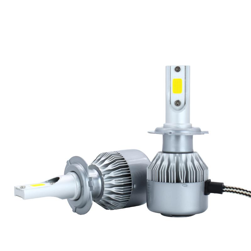 Hot sale Led Auto Lighting C6 H4 Car LED Headlight C6 Faro Led Spot COB Light Car Led Bulbs With Fans