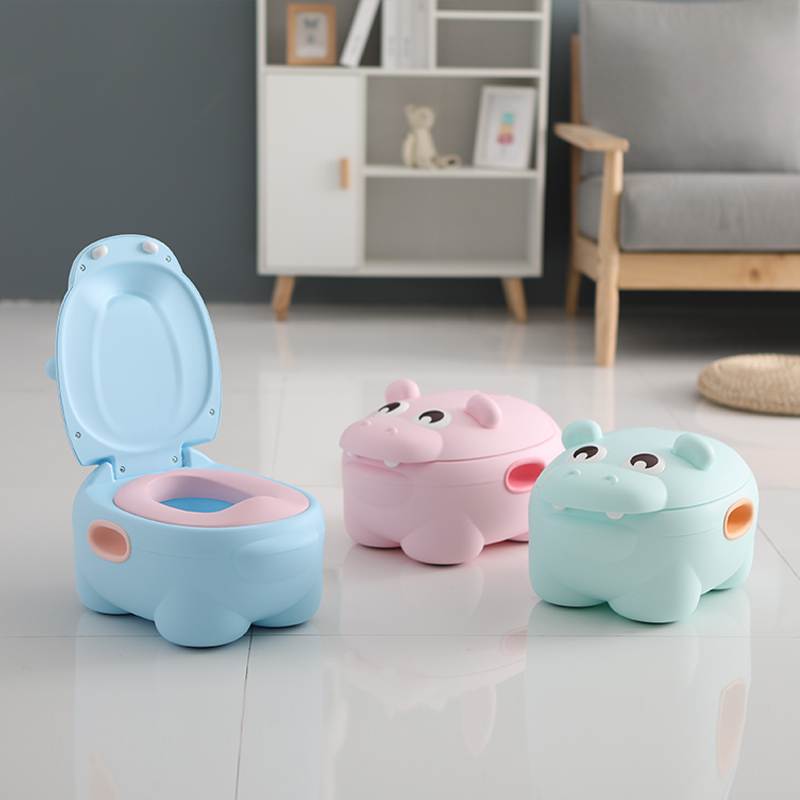 EN71 Test Adult Baby Kids Travel Toilet Squatty Potty, Cute Children Toddler Size Simulation Plastic Potty Chair/