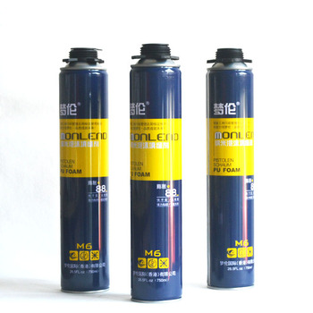 chemical fireproof insulating expanding foam aluminum aerosol canned one component spray polyurethane pu foam sealant adhesive
