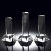 K9 crystal blank engrave crystal column award trophy with clear base