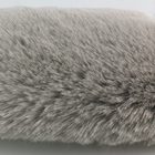 Knitted Rabbit Fur Knitted Grey Warp Knitted Artificial Rabbit Plush Stock Artificial Fur China Textile City