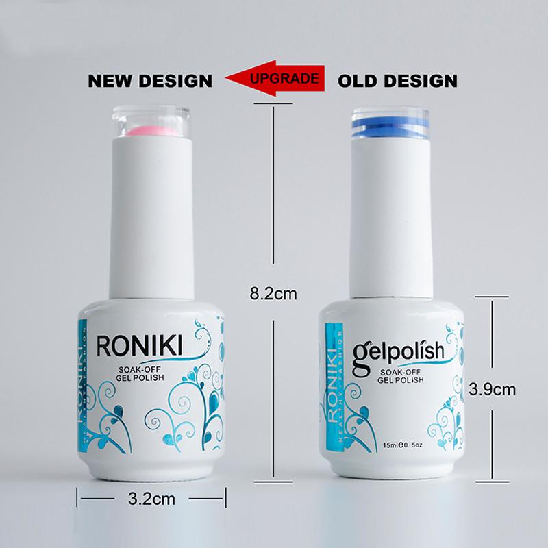 RONIKI customized logo private label non toxic custom oem colors uv gel nail polish