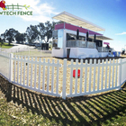 Plastic PVC Vinyl picket mobile/movable/portable removable temporary fence panel
