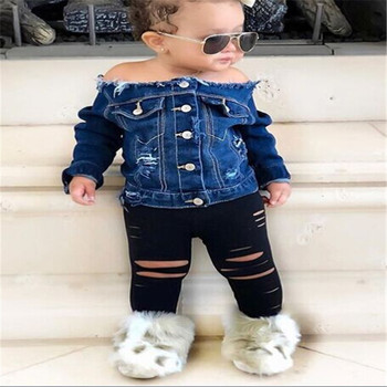 Kids Clothing Wholesale Children Clothes Girls Denim Boutique Spring Girl Clothing For Kids Wear