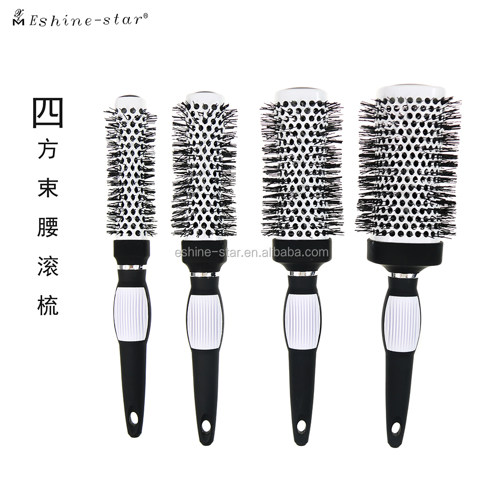 Private Label New fashion Salon Tools Heat Control Nylon Pins Square Hairbrushes