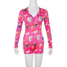 Летняя Сексуальная Женская цельная Пижама, ночная рубашка, Дамская пижама с длинным рукавом, пижама, ночное белье, комбинезон, комплект(Китай)
