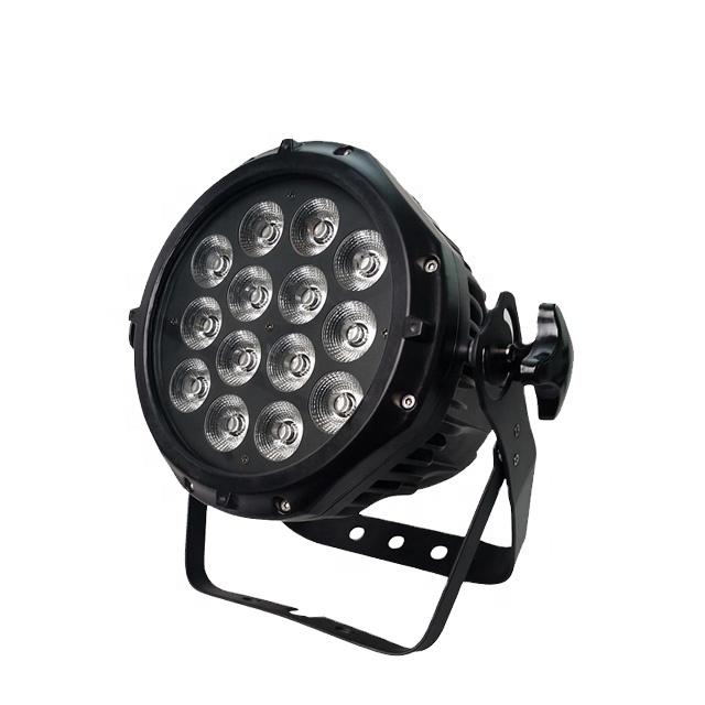 Winlite high brightness 14x18w 6in1 rgbwa uv outdoor led par64 par can light