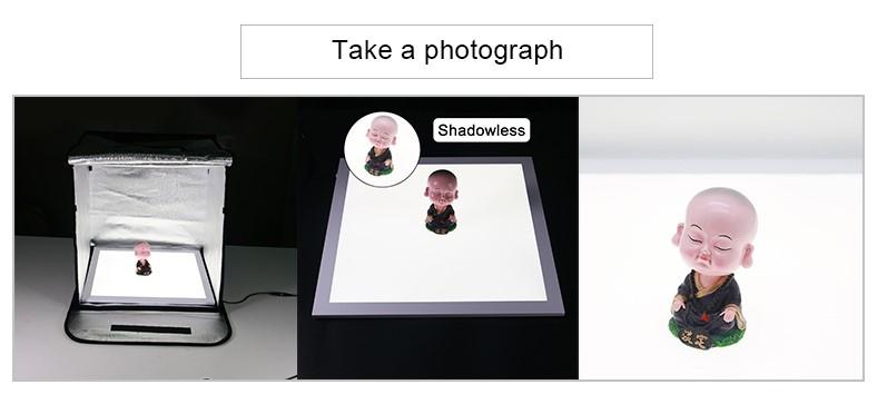 Photo Studio Fotografia Fundo Shadowless Luz, Nitidez de 15*15 polegadas Esboço Back Light, Estudo Da Fotografia Mesa
