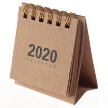 1 шт., 2020, милые мини простые настольные календари, Мультяшные мини настольные календари, сделай сам, блокнот для заметок, планировщик, Распис...(Китай)