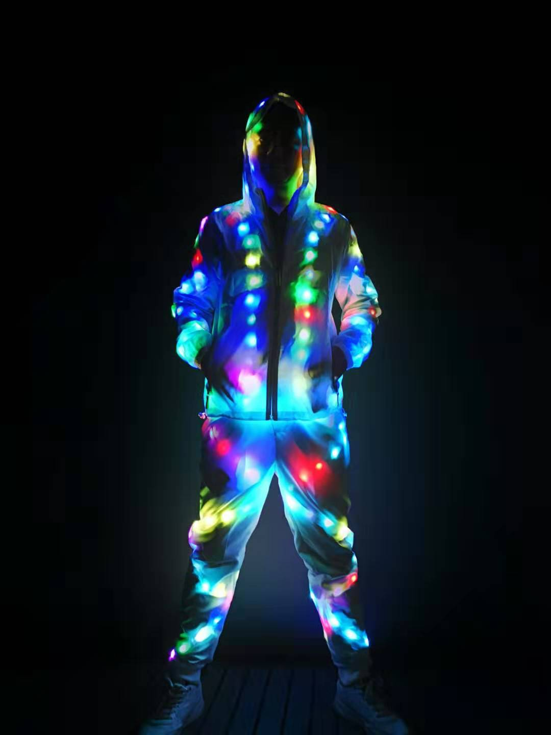 Led Light Jacket Pants Dj Party Club Sports Wear Led Lighting Clothes Colorful Luminous Costume Flash Led Jacket Dance Costumes Buy Led Luminous Jacket Led Clothing Led Costume Product On Alibaba Com
