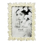 Beautiful Wholesale Anniversary shinning pearls photo frames for wedding