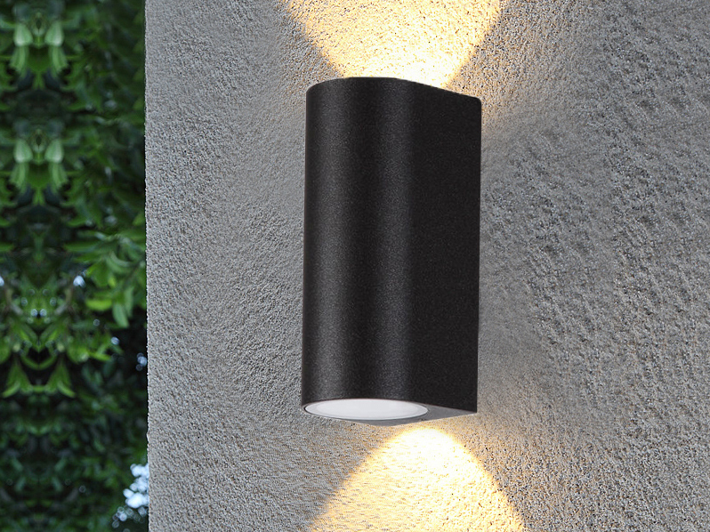 PS1680 2xGU10 indoor outdoor led wall lamp up and down  wall surface mount light modern garden landscape