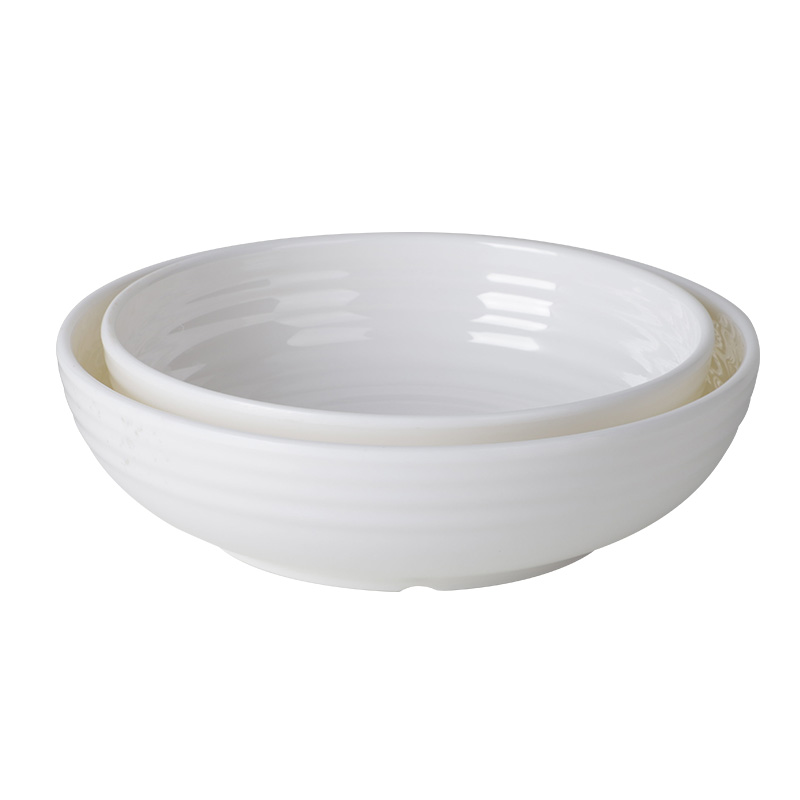 8'' 9'' Matte Mangkok Melamin Bowl White Restaurant Plasctic Salat Schale