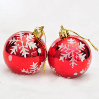 wholesale 2020 new creative quality xmas ball different size RED colors oem odm Plastic Christmas Ornaments Balls